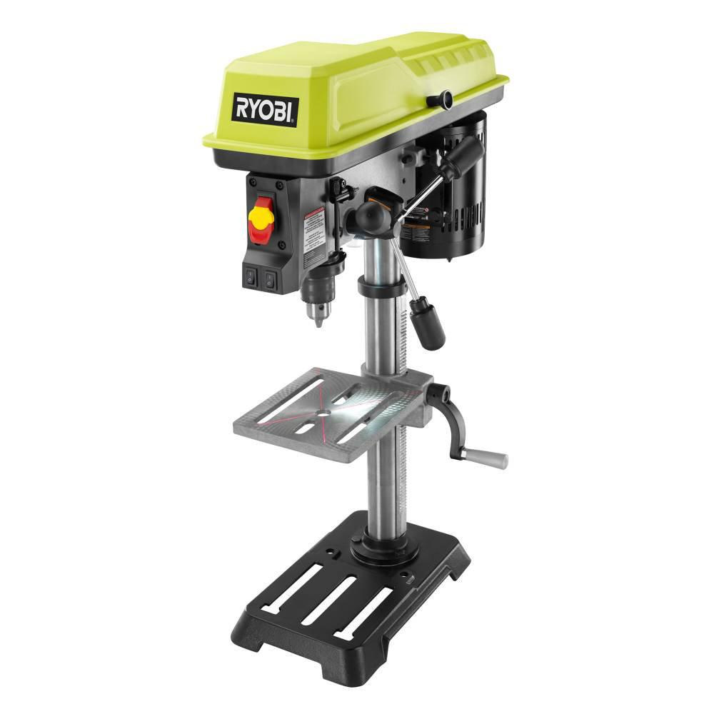 RYOBI 10 in. Drill Press with EXACTLINE Laser Alignment System on