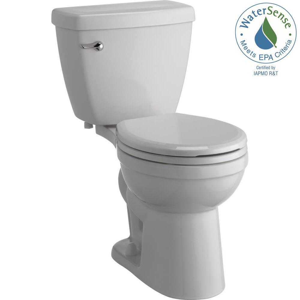 white toilet with black seat. Delta Foundations 2 Piece 1 28 GPF Single Flush Round Front Toilet with  Sanborne Slow