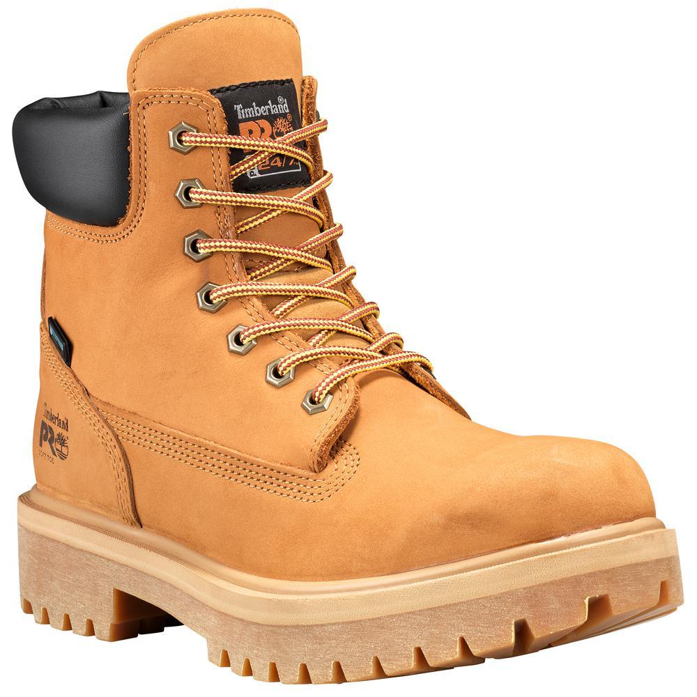 Timberland PRO Men's Direct Attach Waterproof 6'' Work Boots Soft Toe Wheat Size 13(M)
