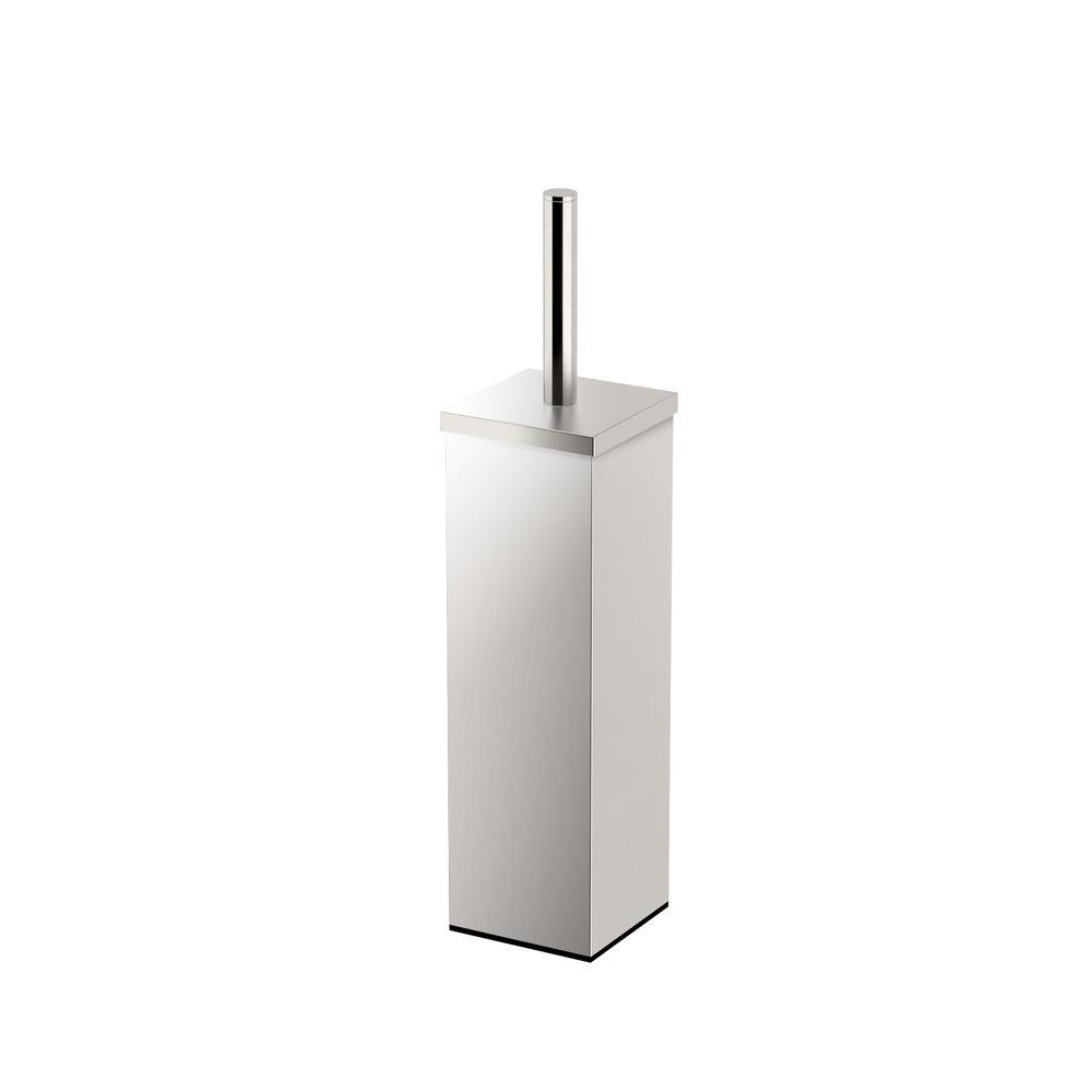 Gatco Square 3.13 in. W Toilet Brush Holder in Satin Nickel