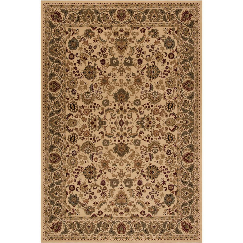 Concord Global Trading Persian Clics Mahal Ivory 2 Ft X 3 Area Rug