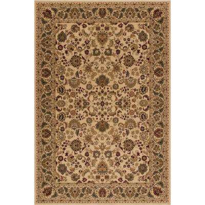 Persian Classic Mahal Ivory Rectangle Indoor 9 ft. 3 in. x 12 ft. 10 in. Area Rug