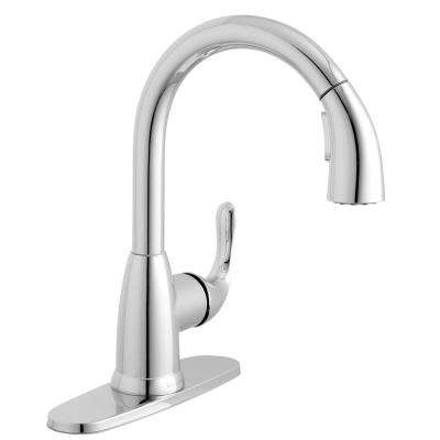 Dylan Single-Handle Pull-Down Kitchen Faucet with TurboSpray and FastMount in Chrome
