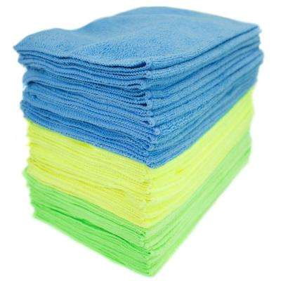 Microfiber Cleaning Cloths, Multi-Colored (48-Pack)
