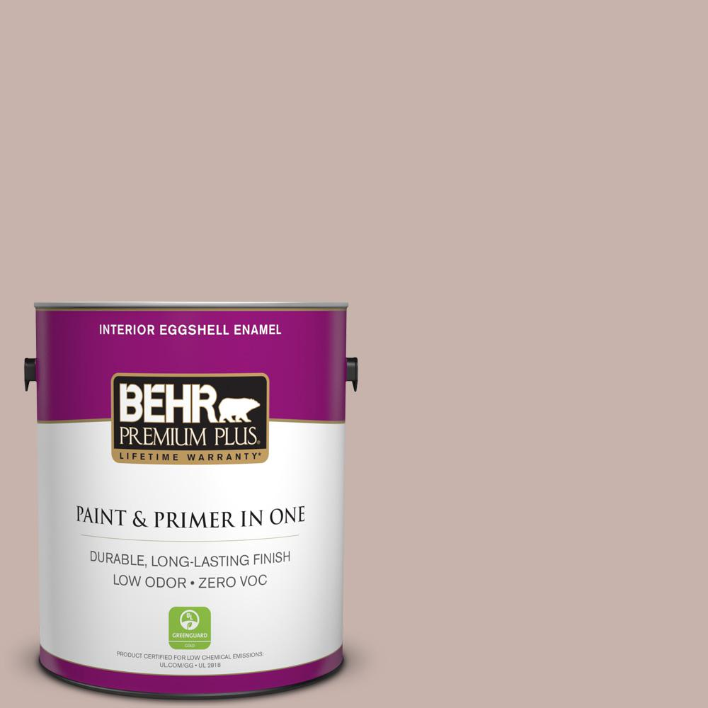 BEHR Premium Plus 1-gal. #PPF-10 Balcony Rose Zero VOC Eggshell Enamel Interior Paint