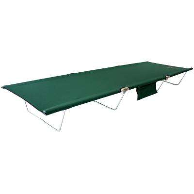 TriLite Cot 74 in. x 25 in. Aluminum Frame Polyester Cover Spring Steel Legs Cot