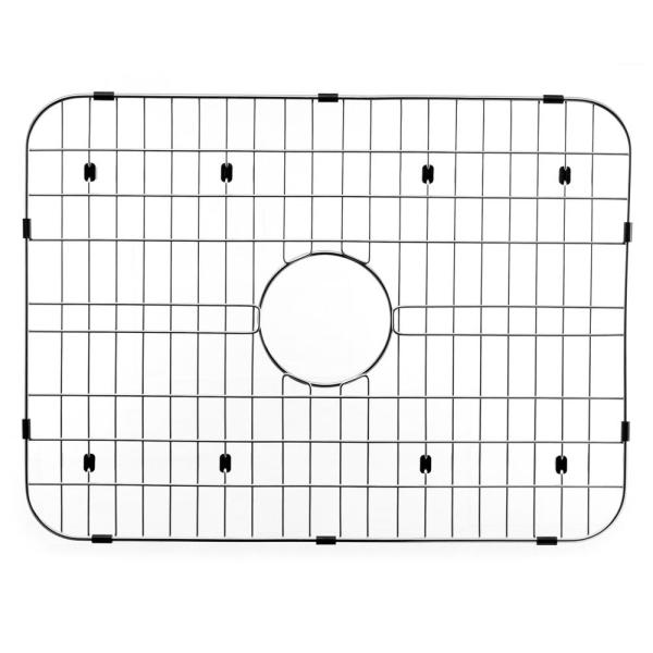 Houzer Wirecraft 13 63 In X 20 38 In Bottom Grid For Kitchen Sinks In Stainless Steel Bg 7400 The Home Depot