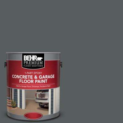 1 gal. #N500-6 Graphic Charcoal 1-Part Epoxy Satin Interior/Exterior Concrete and Garage Floor Paint