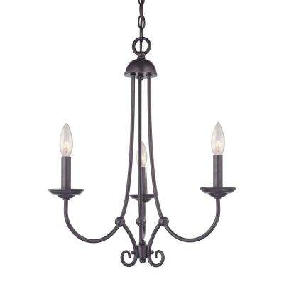 Williamsport 3-Light Oil Rubbed Bronze Ceiling Chandelier