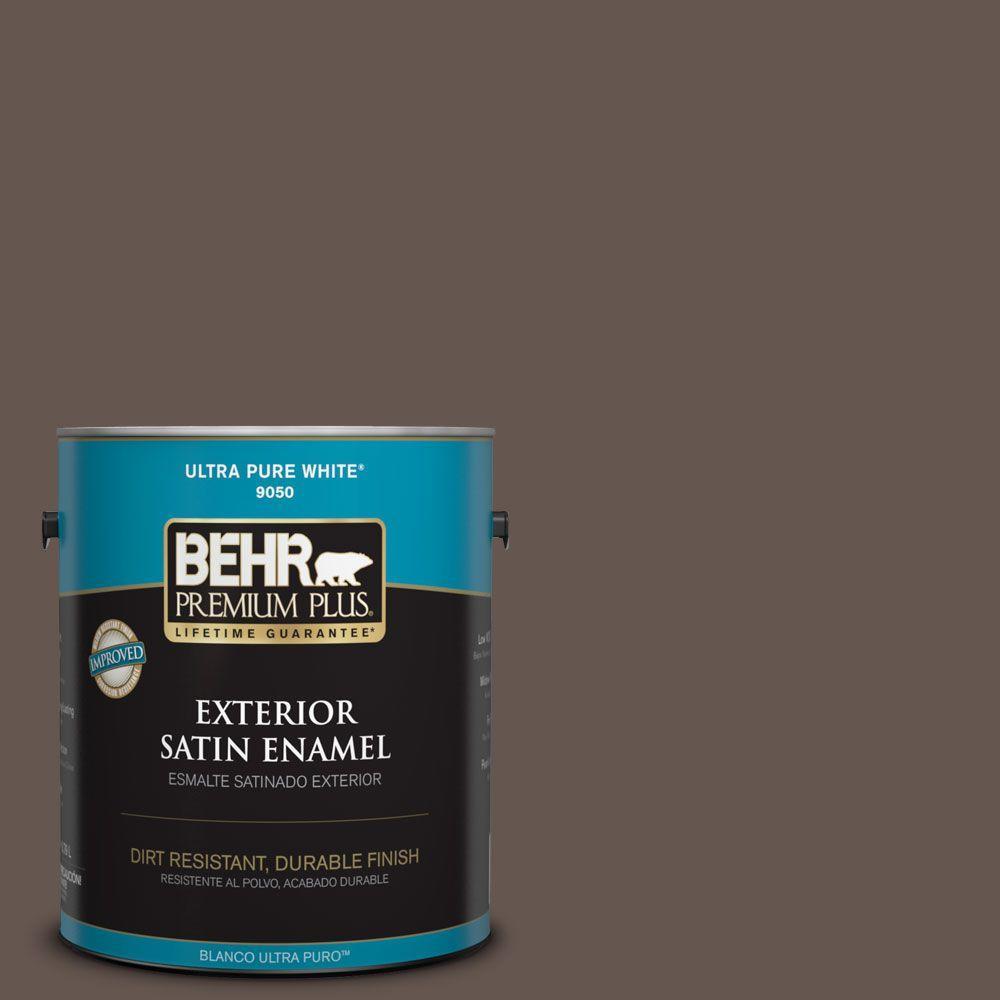 1-gal. #BNC-33 Harvest Oak Satin Enamel Exterior Paint