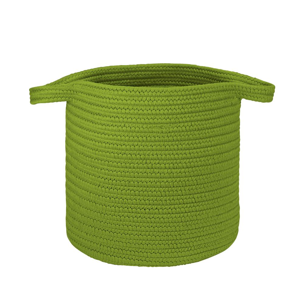 16 in. x 16 in. x 20 in. Neon Green Addison Braided Laundry Basket