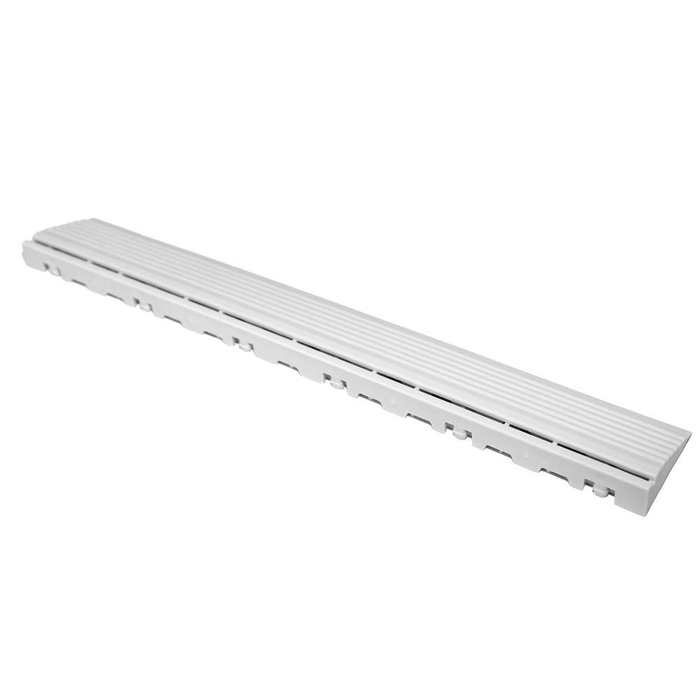 15.75 in. Artic White Pegged Edging for 15.75 in. Swisstrax Modular Tile Flooring (2-Pack)