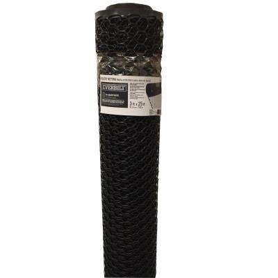 36 in. x 5-9/10 in. Black PVC Poultry Netting