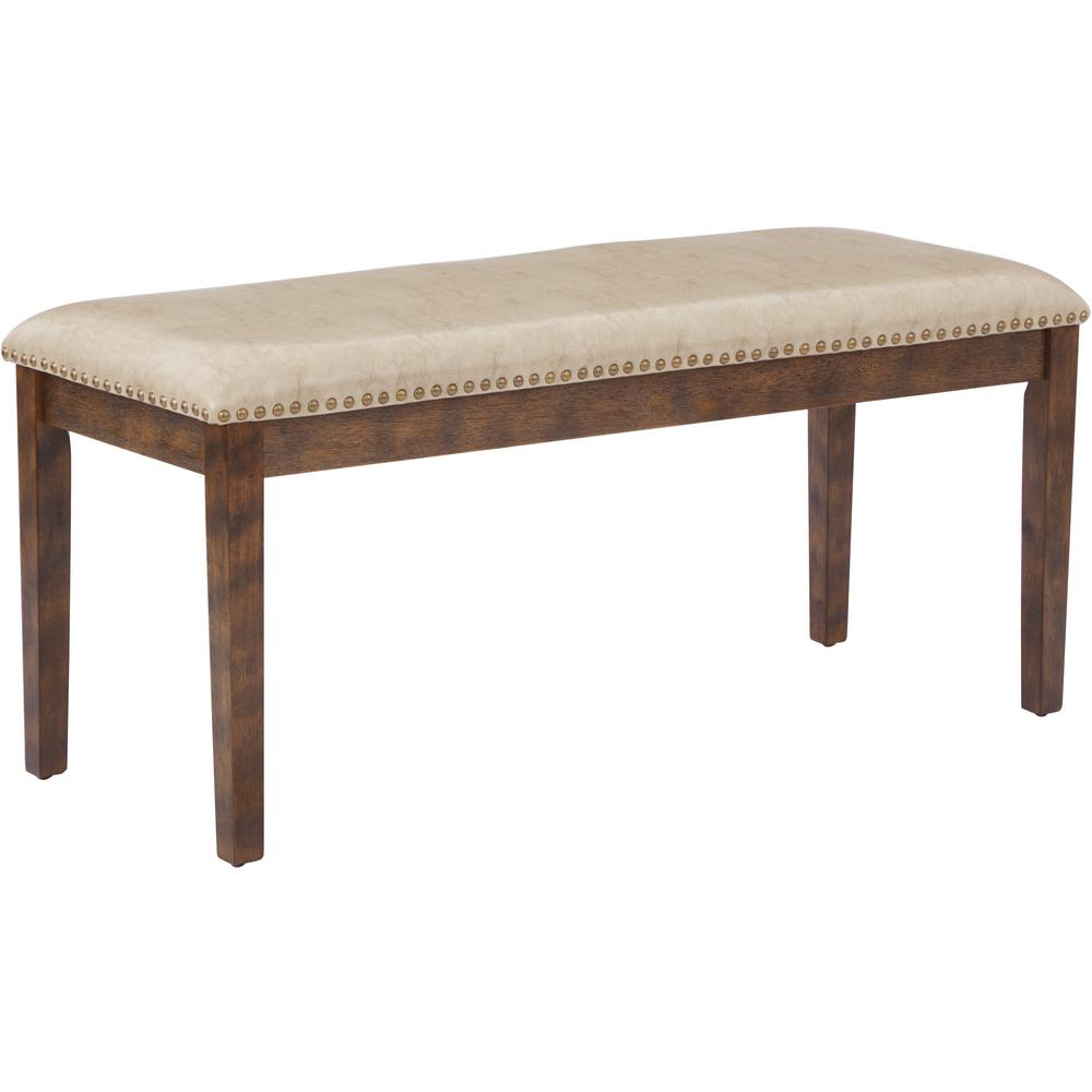 Beige Langston Bench