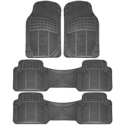 Gray 4-Piece Heavy-Duty 16.5 in. x  50 in. Floor Mats
