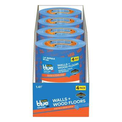ScotchBlue 1.41 in. x 60 yds. Walls and Wood Floors Painter's Tape with Edge-Lock (4-Pack) (Case of 4)
