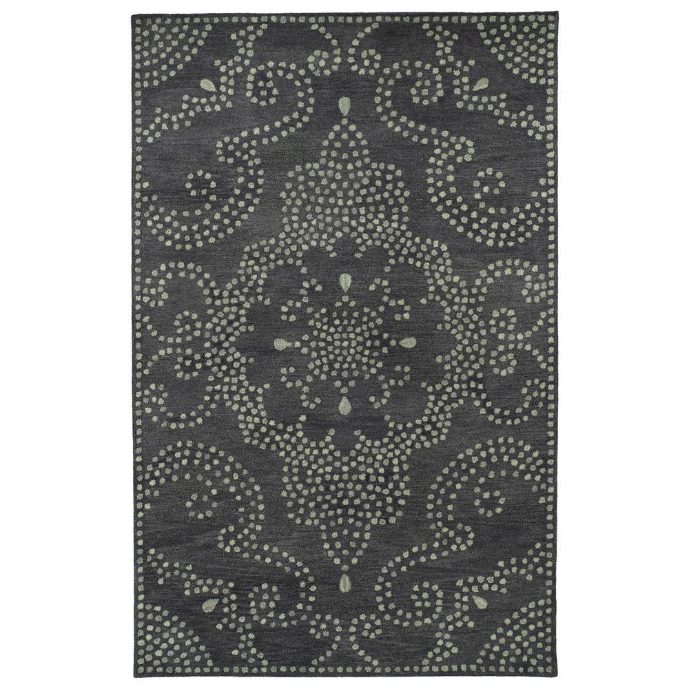 Art Tiles Charcoal 2 ft. x 3 ft. Area Rug