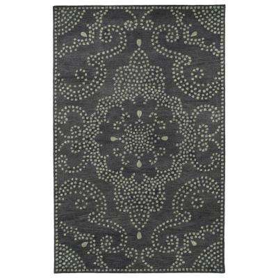 Art Tiles Charcoal 10 ft. x 13 ft. Area Rug