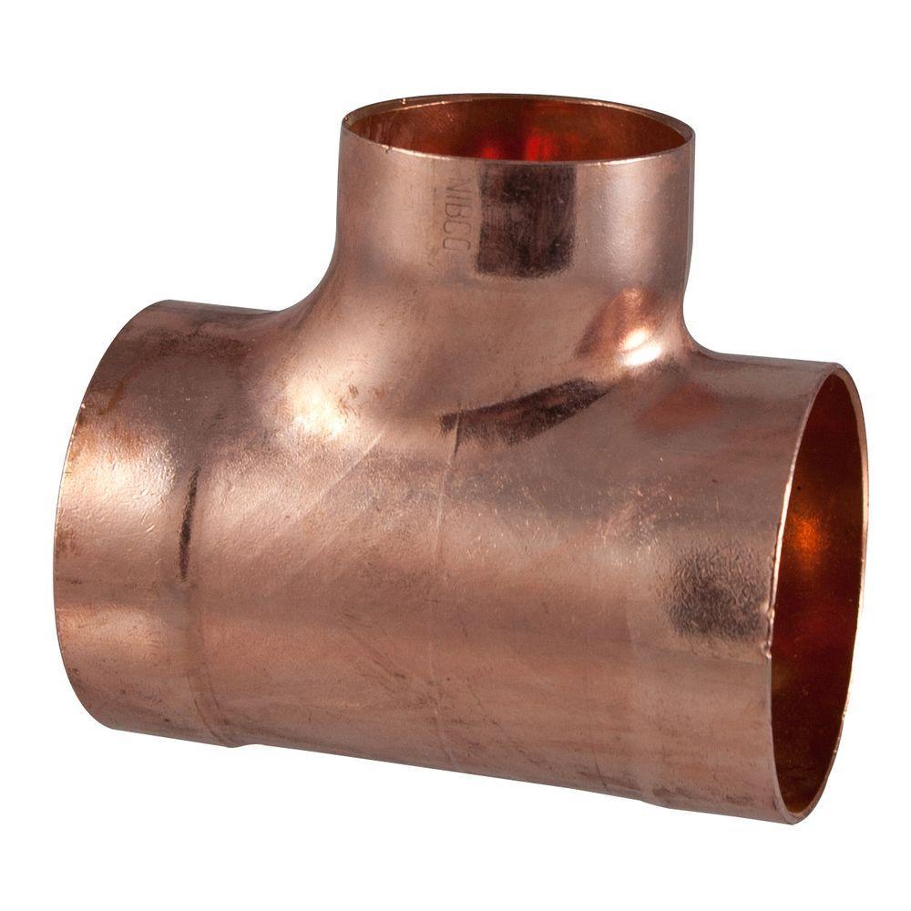 2 in. x 2 in. x 1-1/2 in. Copper DWV C x C x C Tee
