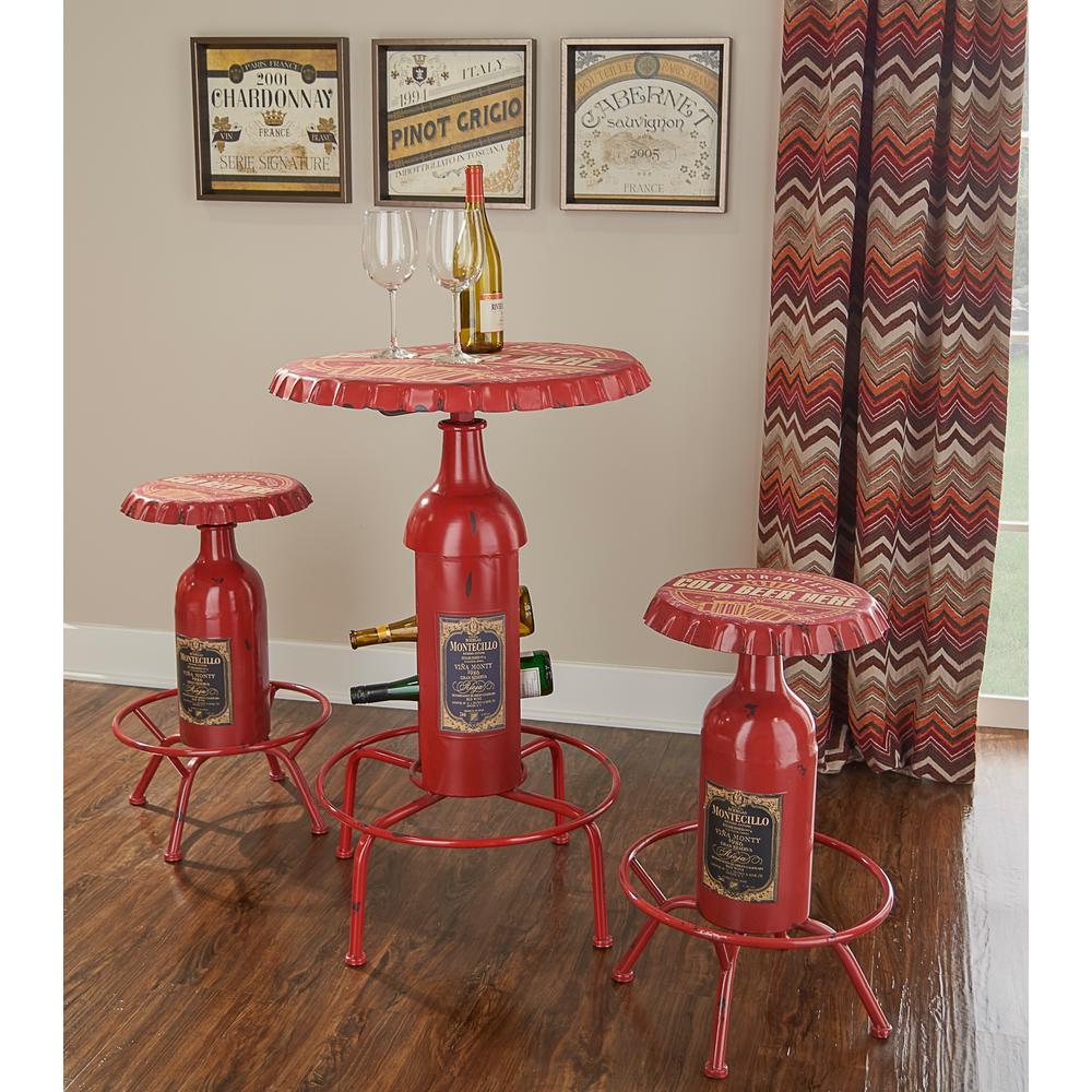 Bottle Pub Red Table