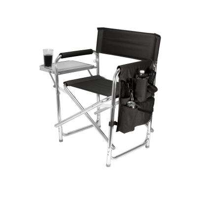 Black Sports Portable Folding Patio Chair