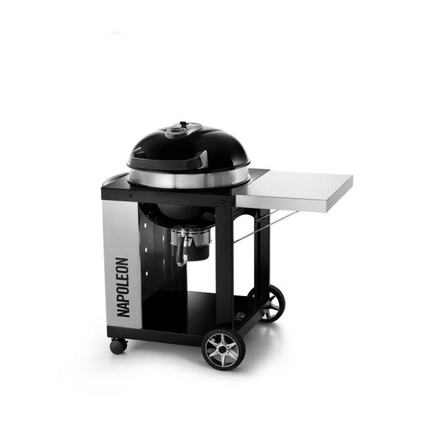 Rodeo Pro Cart Charcoal Kettle Grill in Black