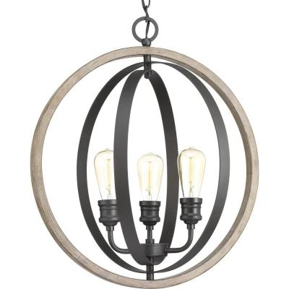 Conestee Collection 3-Light Graphite Pendant