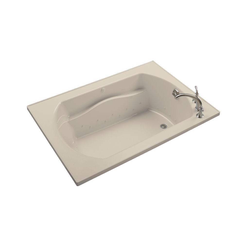 STERLING Lawson 60 in. x 42 in. Air Massage Whirlpool Tub with Reversible Drain in Almond