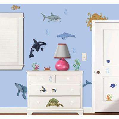 14.5 in. x 23 in. Under the Water Super Jumbo Wall Decal