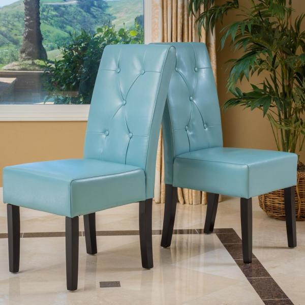 Bonded Leather Dining Chair Set