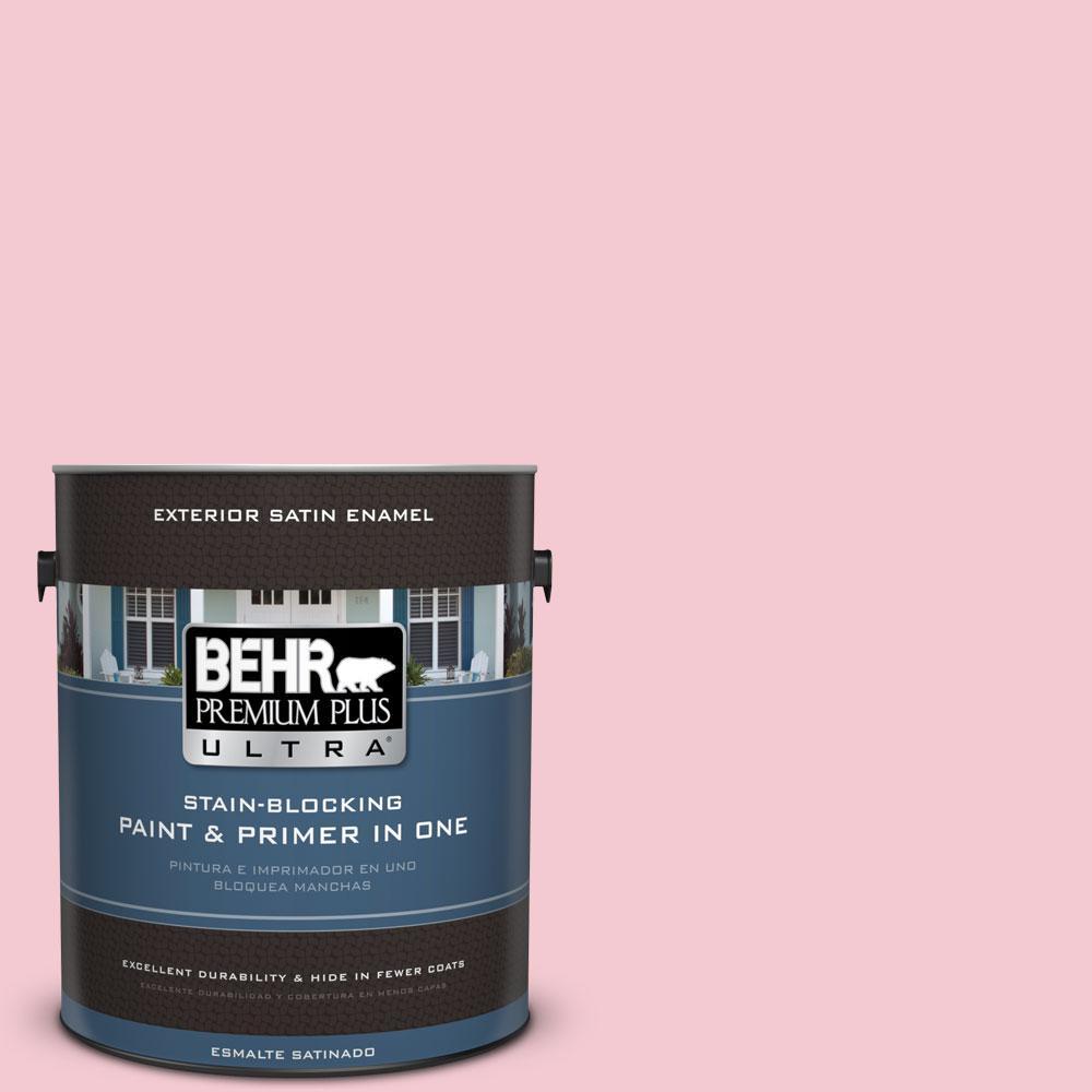 BEHR Premium Plus Ultra 1-gal. #P160-1 Angel Kiss Satin Enamel Exterior Paint