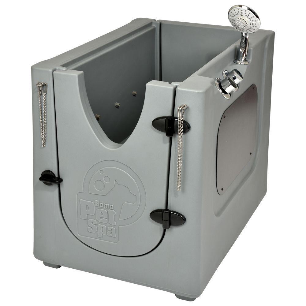 Home Pet Spa 35 in. x 24.7 in. Pet Shower and Grooming Enclosure ...