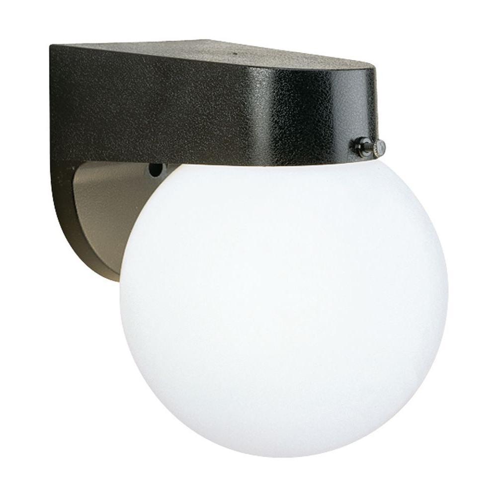 1-Light Black Outdoor Wall-Mount Lantern