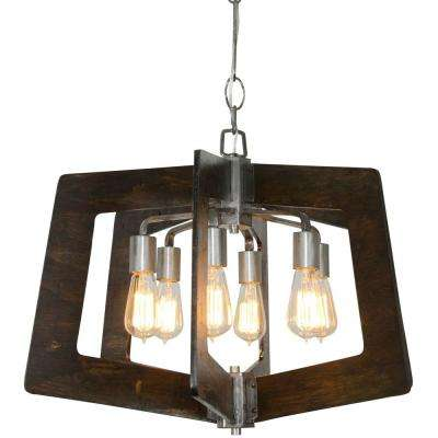 Cage stainless steel chandeliers lighting the home depot lofty 6 light steel chandelier aloadofball Images