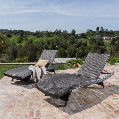 Toscana Multi-Brown 2-Piece Wicker Outdoor Chaise Lounge