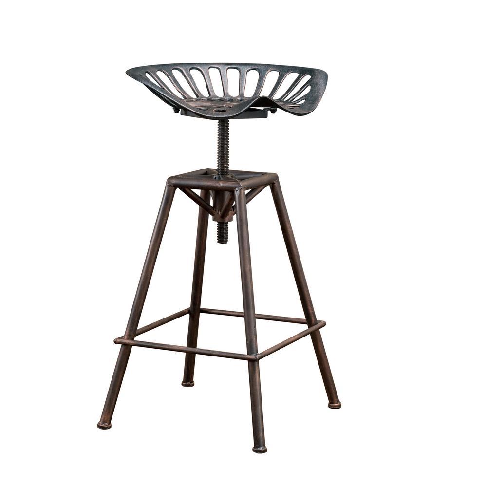27 in. Chapman Copper Adjustable Bar Stool