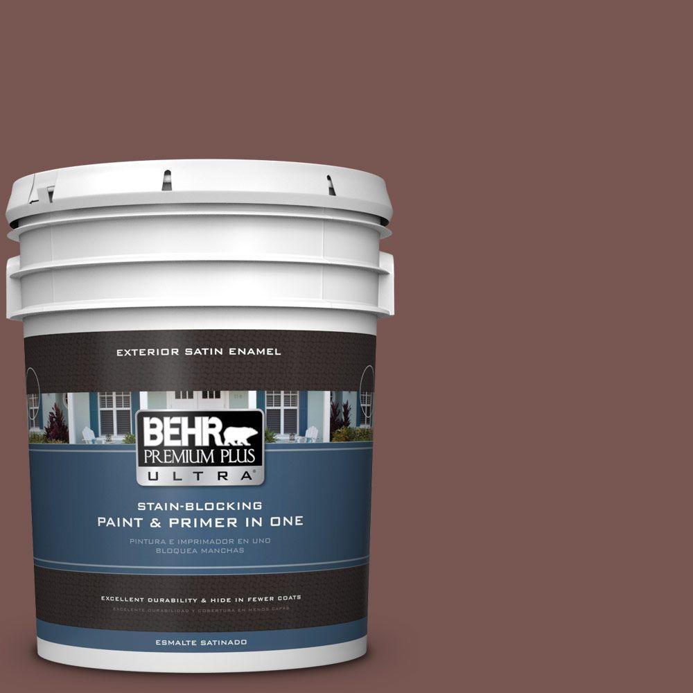 BEHR Premium Plus Ultra 5-gal. #700B-6 Sequoia Dusk Satin Enamel Exterior Paint