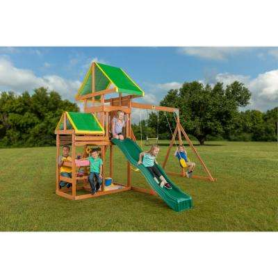 Woodlands Complete Wooden Swing Set
