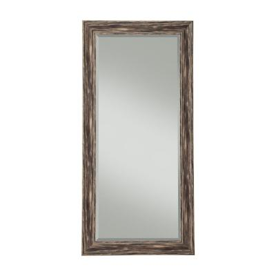 Farmhouse Antique Black Full Length Leaner Mirror