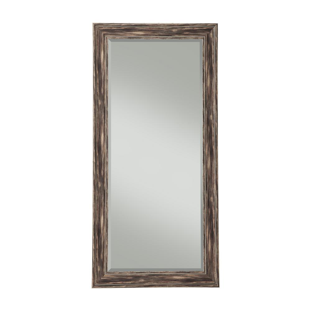 Farmhouse Antique Black Full Length Leaner Mirror