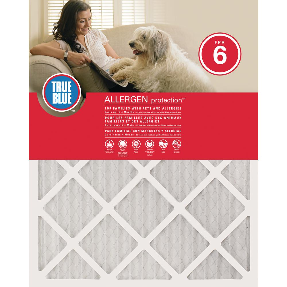 True Blue 22 in. x 24 in. x 1 in. Allergen and Pet Protection FPR 6 Air Filter (4-Pack)