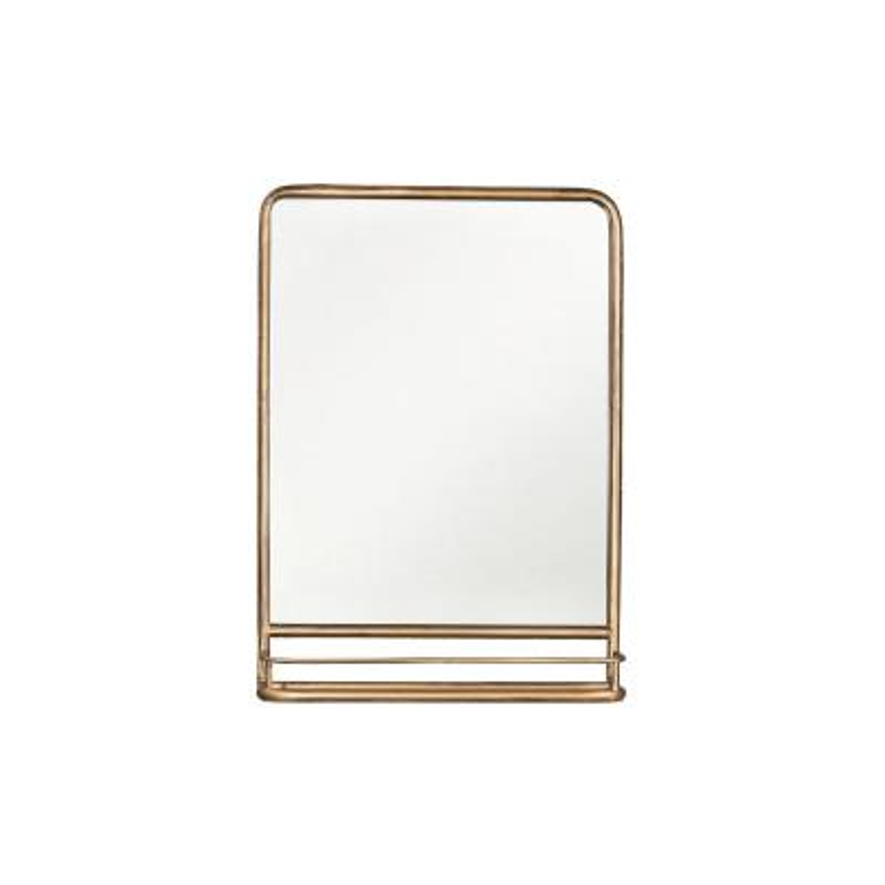 Medium Rectangle Brass Classic Mirror (27.5 in. H x 19.5 in. W)