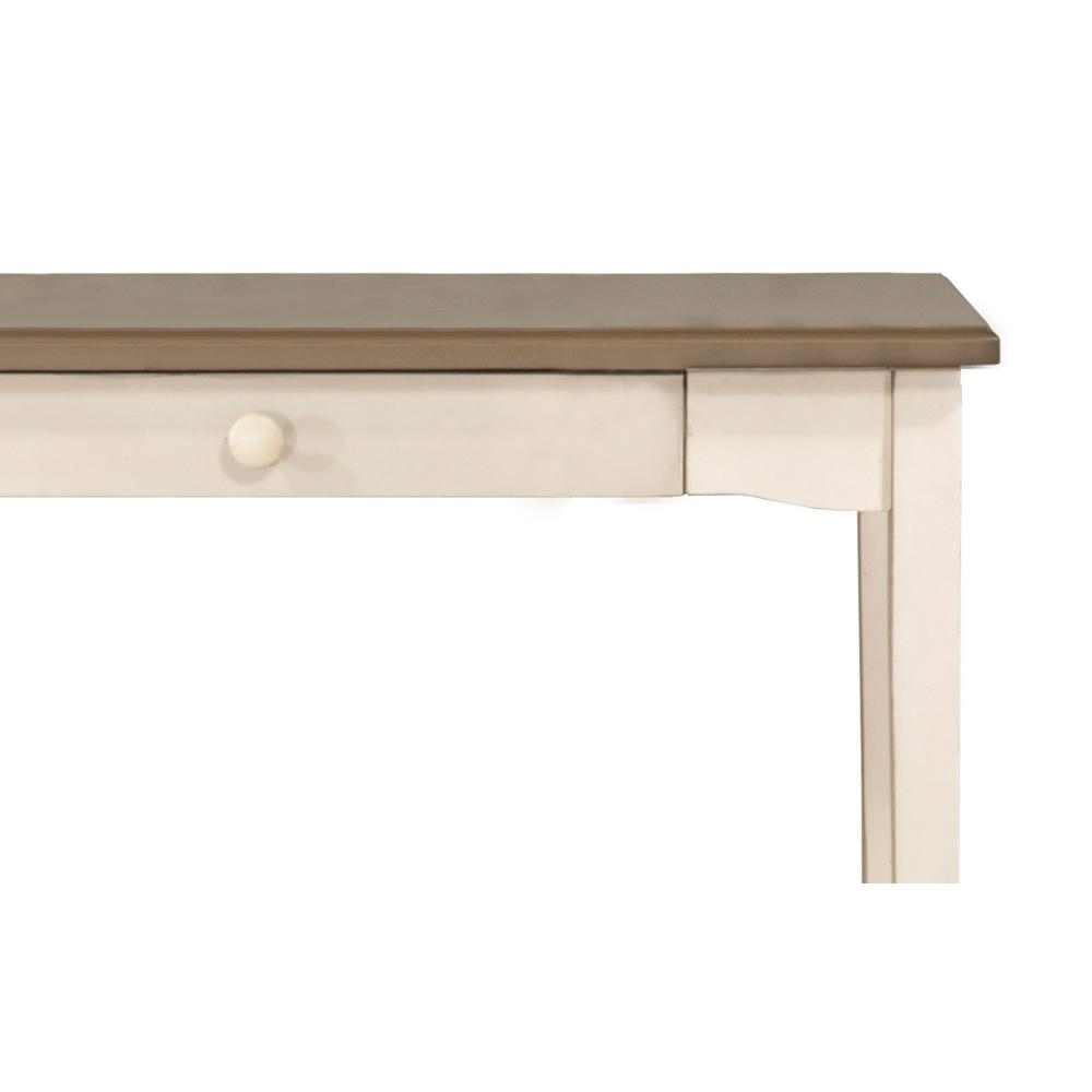 Hillsdale Clarion Writing Desk in Distressed Gray and Sea White