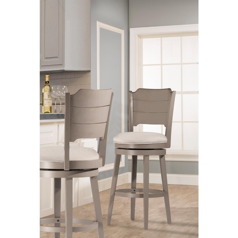 Hillsdale Furniture Clarion Distressed Gray Swivel Bar Stool 4541 830 The Home Depot