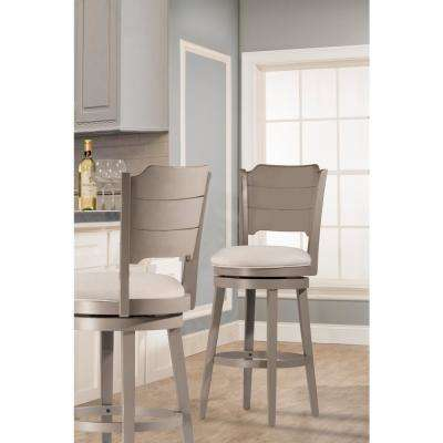 Clarion Distressed Gray Swivel Bar Stool