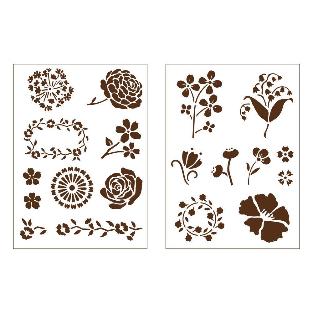 Martha Stewart Crafts Blossoms Adhesive Stencils