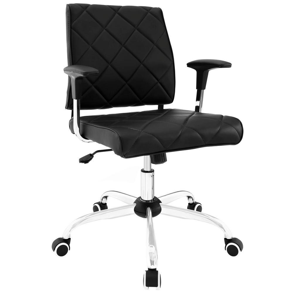 Modway Lattice Black Vinyl Office Chair