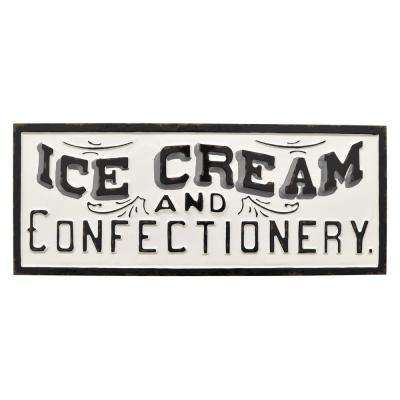 White Metal Novelty Sign- Ice Cream
