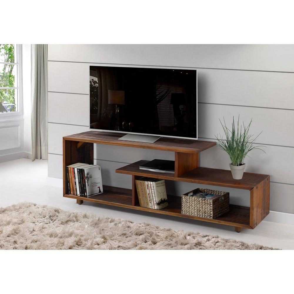 9f27cc26e Walker Edison Furniture Company 60 in. Rustic Modern Solid Wood TV Stand  Console Entertainment Center - Amber HD60RSWAM - The Home Depot