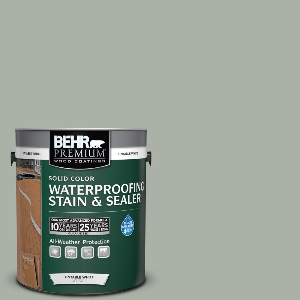 BEHR Premium 1 gal. #SC-149 Light Lead Solid Color Waterproofing Stain and Sealer